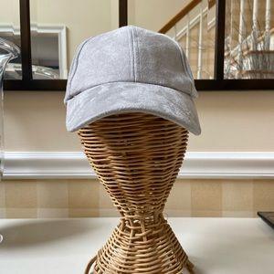 Grey Free People Baseball Hat